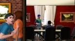 There's Solomon in the orange shirt