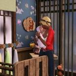 Cuddling baby Bristol
